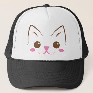 Simple cat face so cute! trucker hat