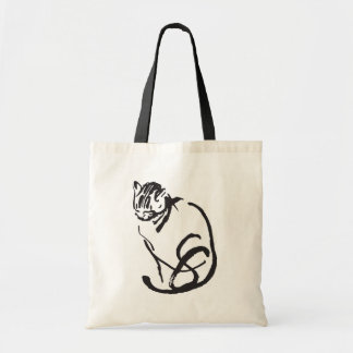 Simple Cat Tote Budget Tote Bag