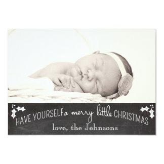 "Simple Chalkboard Christmas Card 5"" X 7"" Invitation Card"