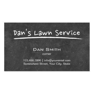 Simple Chalkboard Handscript Lawn Care Business Card Templates