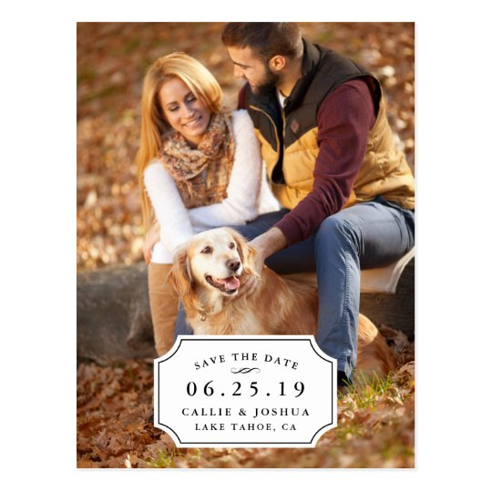 Simple Charm Save the Date Postcard