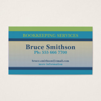 Simple Checks & Stripes Budget Business Card
