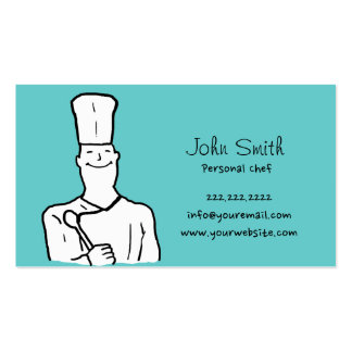 Simple Chef Avatar Personal Chef Business Cards