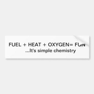 Simple Chemistry Bumper Sticker