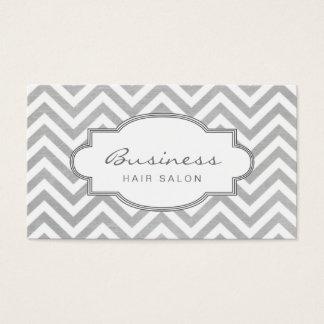 Simple Chevron Stripes Hair Salon Appointment Business Card