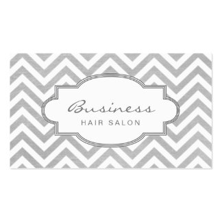 Simple Chevron Stripes Hair Salon Appointment Pack Of Standard Business Cards
