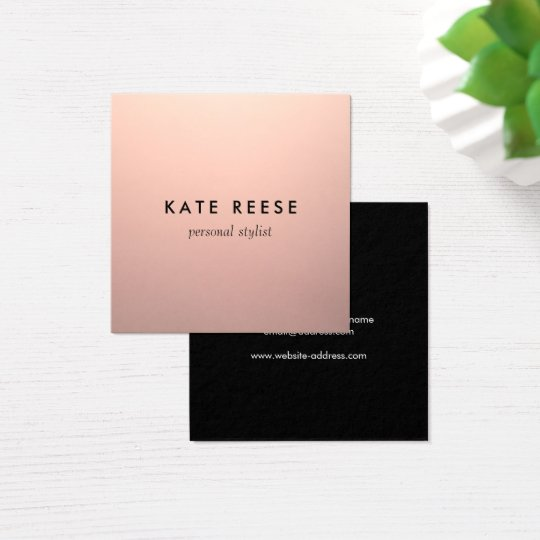 Simple Chic Copper Rose Gold Professional Stylist Square