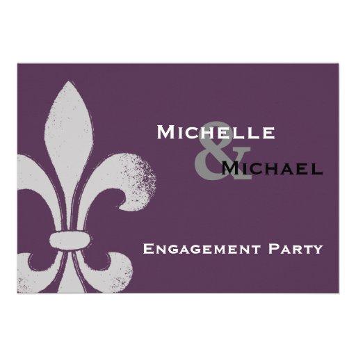 Simple Chic Fleur de Lis Party Invitations