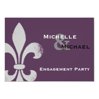 Simple Chic Fleur de Lis Party Invitations