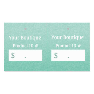 Simple Chic Mint Boutique Retail Sales Hang Tags Business Card Templates