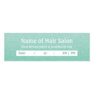 Simple Chic Mint Salon Appointment Reminder Business Cards