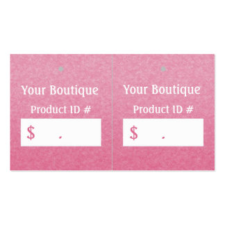 Simple Chic Pink Boutique Retail Sales Hang Tags Pack Of Standard Business Cards