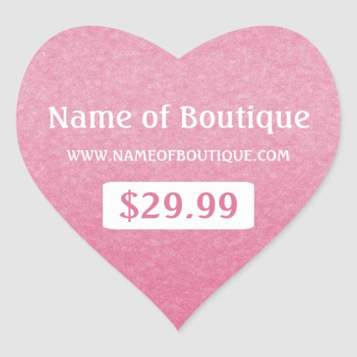 Simple Chic Pink Boutique Retail Sales Price Tags Sticker