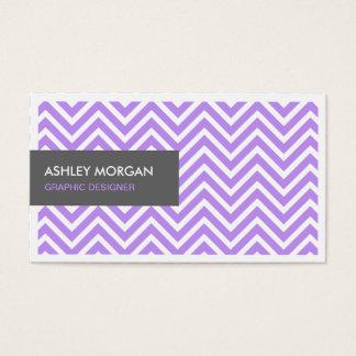 Simple Chic Purple Chevron Zigzag Profile Card