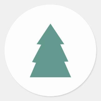 Simple Christmas Tree Classic Round Sticker