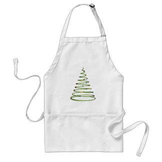Simple Christmas Tree Design Apron