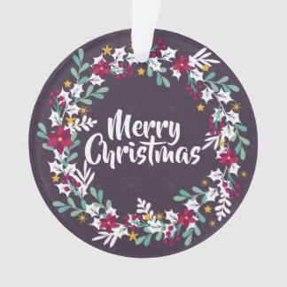 Simple Christmas Wreath Purple | Ornament