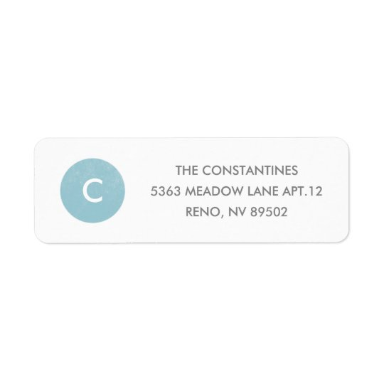 Simple Circle Address Label - Sky