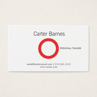 SIMPLE CIRCLE in RED Business Card