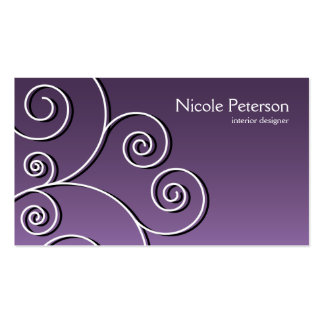 simple circular pattern - purple pack of standard business cards