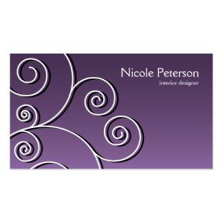 simple circular pattern - purple pack of standard business cards