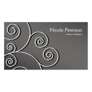 simple circular pattern - textured grey Double-Sided standard business cards (Pack of 100)