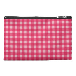 Simple, classic and elegant. Lucky pink plaids Travel Accessory Bag