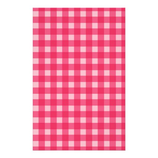 Simple, classic and elegant. Lucky pink plaids. Flyer Design