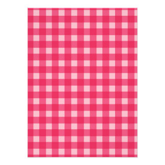 Simple classic and elegant Lucky pink plaids Custom Invitations