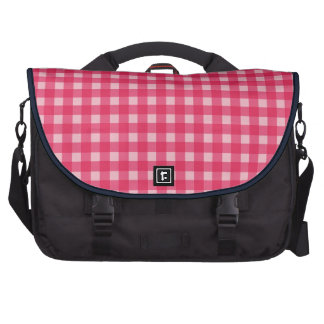 Simple classic and elegant Lucky pink plaids Laptop Computer Bag