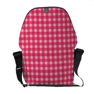 Simple classic and elegant Lucky pink plaids Courier Bag