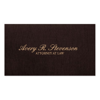 Simple Classic Attorney Dark Brown Linen Look Pack Of Standard Business Cards