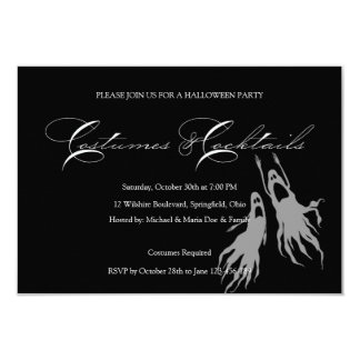 "Simple & Classic Halloween Costume Party 3.5"" X 5"" Invitation Card"
