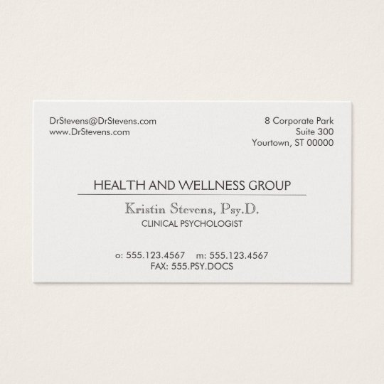 Simple Classic Professional Appointment Card