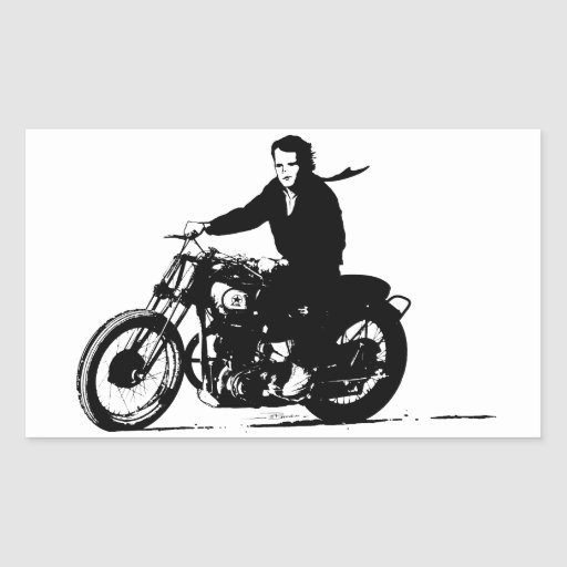 Simple Classic Vintage Motorcycle Rectangular Stickers