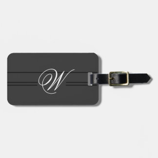 Simple Classy Travel Luggage Tag Monogram