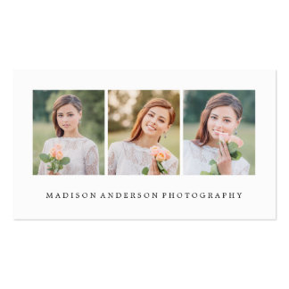 Browse the Photography Business Cards Collection and personalise by colour, design or style.