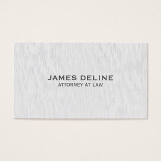 Simple Clean Texture White Attorney Business Card