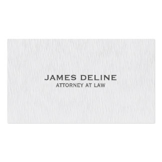 Simple Clean Texture White Attorney Pack Of Standard Business Cards