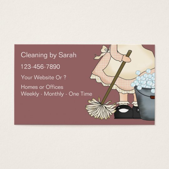 Simple Cleaning Service Business Cards