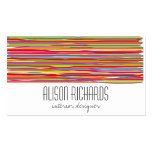 Simple Colorful rainbow stripes interior design Business Card Template