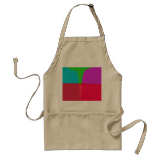 Simple Colors Abstract Art Apron