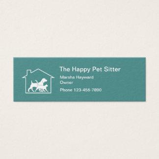 Simple Compact Per Sitter Mini Business Card