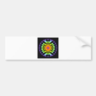 Simple Complexity. Chakra Colors, Sacred Geometry Bumper Sticker