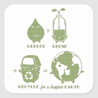 Simple Concept Earth Day Stickers