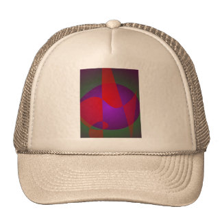Simple Contrast Abstract Composition Trucker Hats