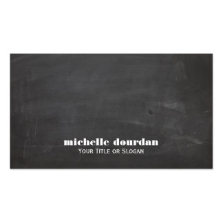 Simple Cool Chalkboard Rustic Unique Black Pack Of Standard Business Cards