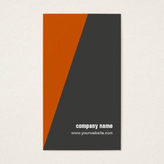 Simple Cool Orange Geometric Consultant Business Card