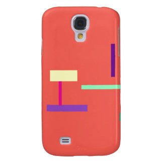 Simple Coral Galaxy S4 Cover