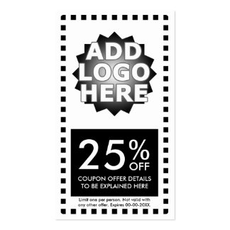 simple coupon pack of standard business cards